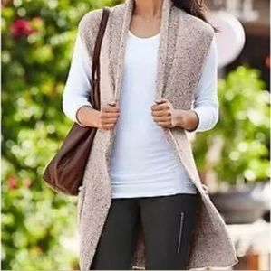 Athleta Sweater VestPassage Oatmeal Textured Wool